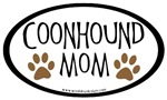 Coonhound Mom Oval