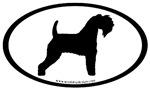Kerry Blue Terrier Oval