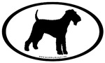 Airedale Terrier Dog Breed Oval Stickers