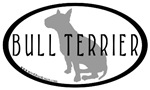 Bull Terrier Dog Breed Oval Stickers