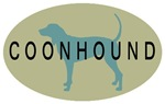 Coonhound Dog Breed Oval Sticker Selections