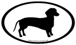 dachshund dog oval