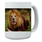 African Lion Playing Mugs