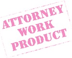 Attorney Work Product Stamp (Pink)