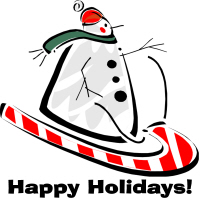 Happy Holidays Snowman Candy Cane T-Shirts
