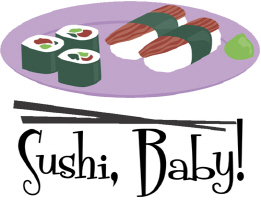 Cool Sushi Baby! T Shirts and Gifts for Sushi Love