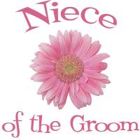 Niece of the Groom Wedding Apparel Gerber Daisy