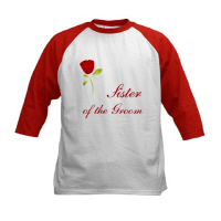 Wedding Party Red Rose Sister of the Groom T Shirt