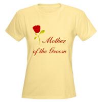 Wedding Party Red Rose Mother of the Groom T Shirt