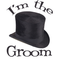 Top Hat Wedding Party I'm the Groom T-Shirts