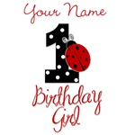 1 Ladybug Birthday Girl - Your Name