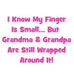 Grandma & Grandpa Wrapped Around Finger
