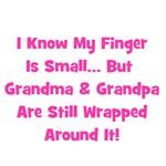 Grandma & Grandpa Wrapped Around Finger