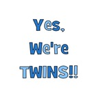 Yes, We're Twins! Blue & Blue