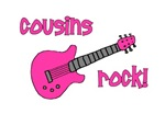 Cousins Rock! pink guitar