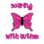 Soaring with Autism! Butterfly pink