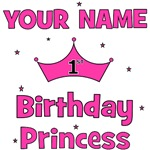 CUSTOM 1st Birthday Princess with YOUR NAME