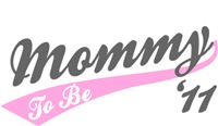 Mommy To Be T-shirt 2011 black