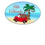 Hawaiian Christmas Santa T-shirt