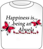 Happiness is being an Abuela Butterfly Design T-Sh