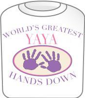 Best YaYa Hands Down T-shirt Design