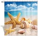 Seashells Shower Curtains