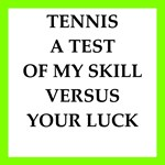 tennis joke on gifts and t-shirts.