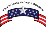 Proud Husband of a Soldier, Stars & Stripes©