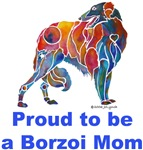 Borzoi Proud Mom