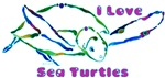 Sea Turtle Designs in Green & Purples