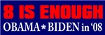 Obama 8 is Enough
