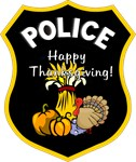 Thanksgiving Police T-Shirts & Holiday Gifts