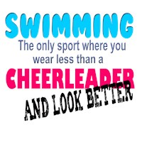 Swimmers v Cheer Leaders t-shirts & gifts