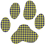 Smiley Dog Paw Print