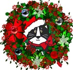 Cat In Christmas Wreath