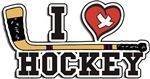 I Love Hockey T-Shirts Gifts
