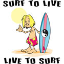 Surf To Live T-Shirt & Gifts