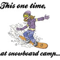 Snowboard Camp T-Shirt Gifts