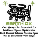 Earth Ox T-Shirt 1949 & 2009 Year of The Ox