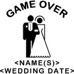 Game Over (Names and Wedding Date) T-Shirts