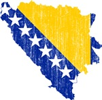 Bosnia And Herzegovina Flag And Map