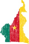 Cameroon Flag And Map