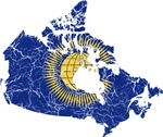Canada Commonwealth Flag And Map