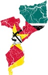 Mozambique Flag And Map
