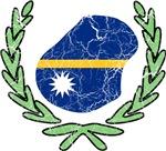 Nauru Flag And Map