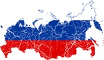 Russia Flag And Map