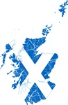 Scotland Flag And Map