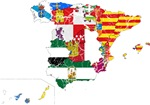Spain Subdivisions Flag And Map