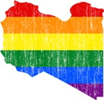 Libya Rainbow Pride Flag And Map