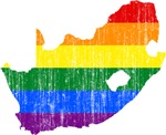 South Africa Rainbow Pride Flag And Map